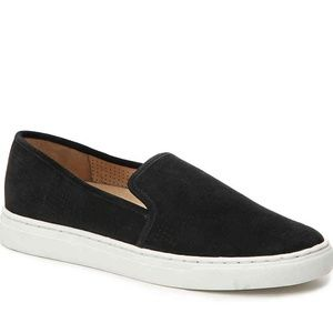 Vince Camuto Shoes - VINCE CAMUTO BLACK SUEDE BAYANA SLIP-ON SNEAKER